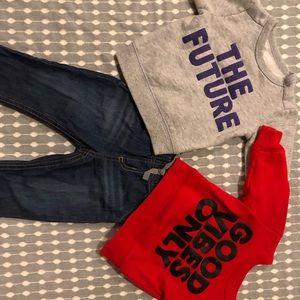 Carter's Crew Neck Sweat Shirts W/ Matching Jeans